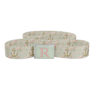 Ceinture Ancre nautique girly florale chic minable