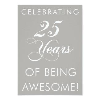 Célébrant 25 ans d'être invitation impressionnant
