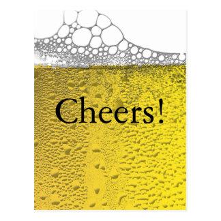 Célébration de bière carte postale