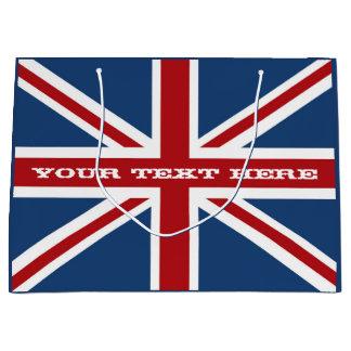 Célébration de drapeau d'Union Jack Grand Sac Cadeau