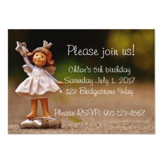 Célébration de l'anniversaire de la fille féerique carton d'invitation  12,7 cm x 17,78 cm