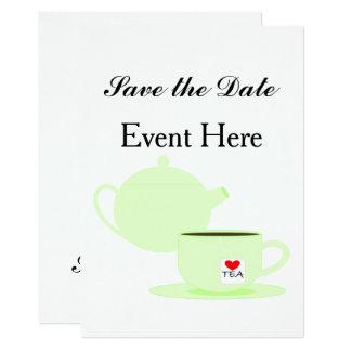 Célébration de thé carton d'invitation  12,7 cm x 17,78 cm