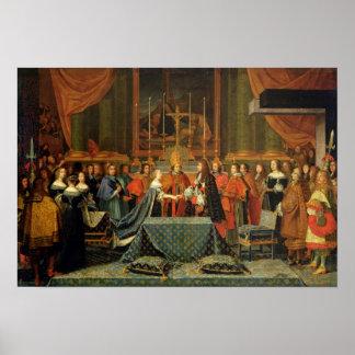Célébration du mariage de Louis XIV
