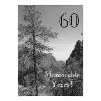 Célébration-Nature mémorable de 60 Carton D'invitation 12,7 Cm X 17,78 Cm