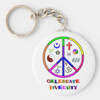 Célébrez la diversité porte-clés