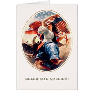 Célébrez l'Amérique, 4 juillet cartes de voeux