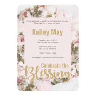 Célébrez les bénédictions - carte de Babyshower de