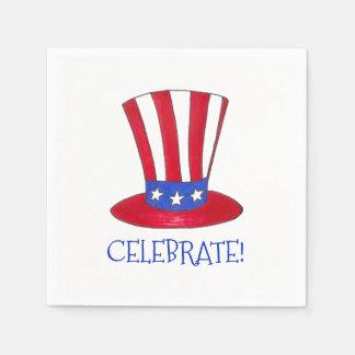 Célébrez l'Oncle Sam patriotique Etats-Unis Serviette En Papier