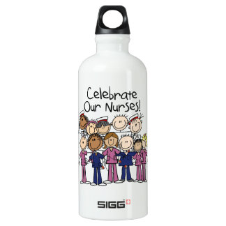 Célébrez nos infirmières bouteille d'eau en aluminium