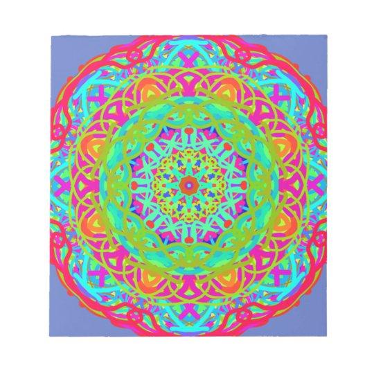 Célébrons le mandala coloré bloc-note