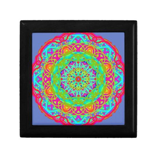 Célébrons le mandala coloré boîte à bijoux