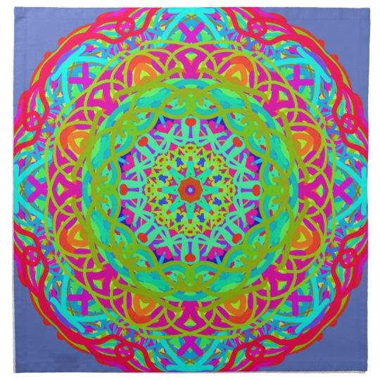 Célébrons le mandala coloré serviette