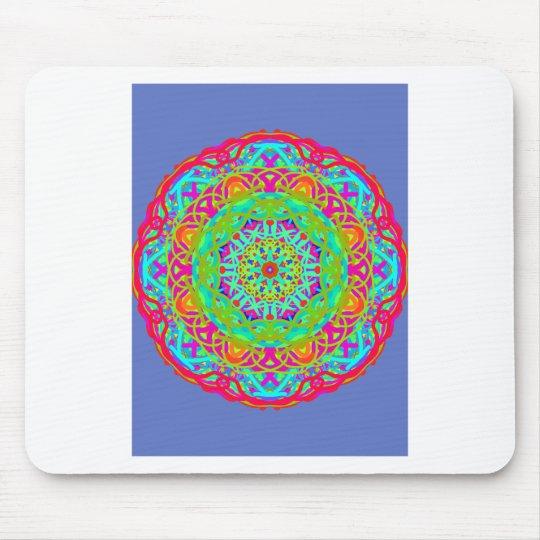 Célébrons le mandala coloré tapis de souris