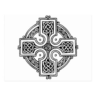 Celtic croix pattern carte postale