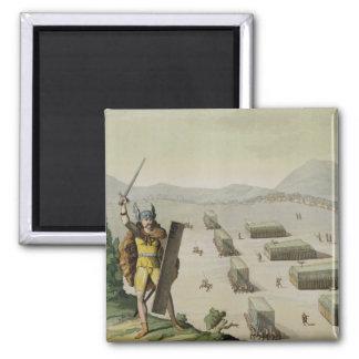 Celts antiques ou Gauls dans la bataille, c.1800-1 Magnet Carré