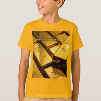 celui d'un T-shirt d'or d'or aimable de fabricant