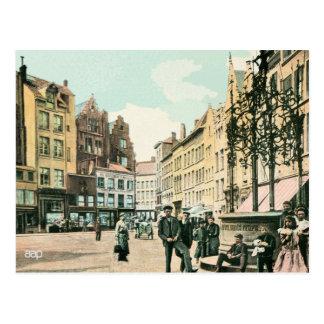 centre de la ville d'Anvers Belgique des années Carte Postale