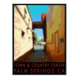 Centre de ville et de campagne de Palm Springs Carte Postale