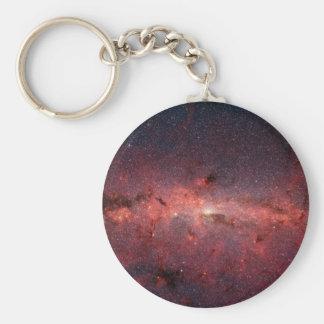 Centre galactique de manière laiteuse, étoiles, nu porte-clé rond