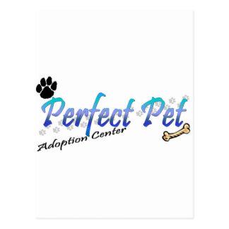 Centre parfait d'adoption d'animal familier carte postale