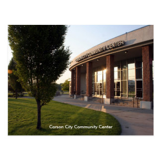 Centre social de Carson City Carte Postale