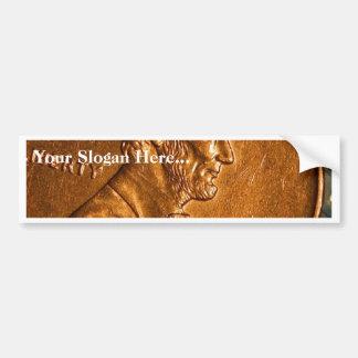 Cents Lincoln de cuivre de penny Autocollant De Voiture