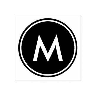 Cercle blanc minimal personnalisé de noir de