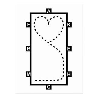 Cercle de dressage de coeur carte postale
