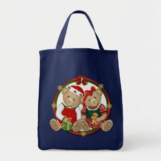 Cercle de Joyeux Noël de Beary Tote Bag