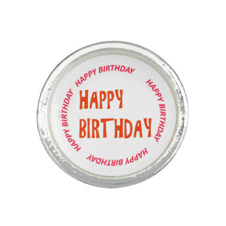 cercle de rose de JOYEUX anniversaire de Bagues