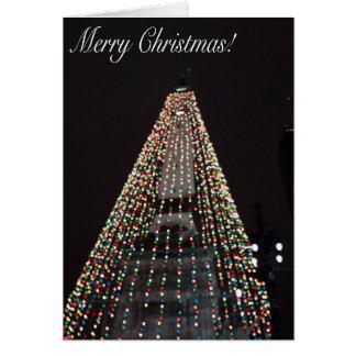 Cercle d'Indianapolis de carte de Noël de lumières