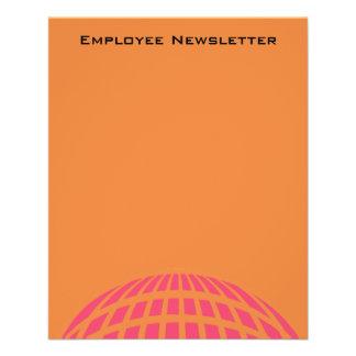 cercle global moderne rose orange prospectus 11,4 cm x 14,2 cm