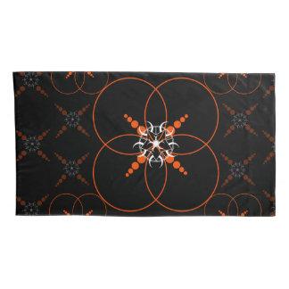 Cercle noir orange de culture housse d'oreillers