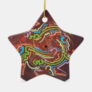 cercle-rouge-vapeur ornement étoile en céramique