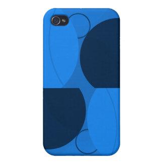 Cercles bleus iPhone 4 case