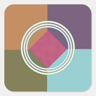 Cercles d'équilibre et d'étincelle de COULEUR : Sticker Carré