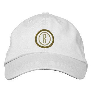 Cercles initiaux du monogramme deux personnalisés casquettes de baseball brodées