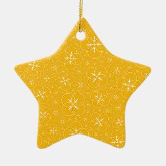 Cercles jaunes de culture ornement étoile en céramique