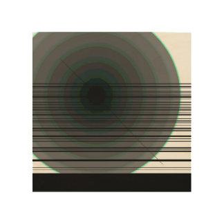 cercles noirs impression sur bois