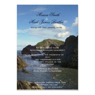 Cérémonie de mariage presse de la plage carton d'invitation  12,7 cm x 17,78 cm