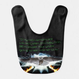 cerf-volant Noir-épaulé au futur bavoir de bébé