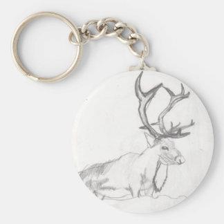 Cerfs communs dessinant Eliana Porte-clés