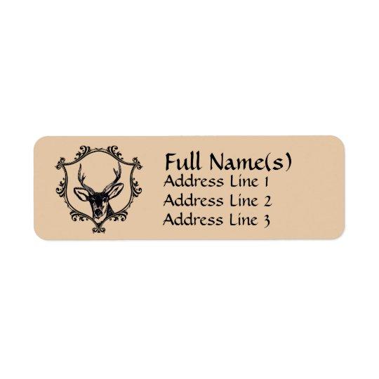 Cerfs communs étiquettes d'adresse retour