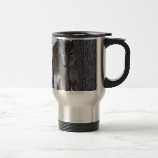 cerfs communs semi-transparents mug de voyage en acier inoxydable