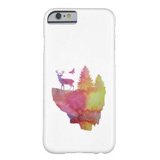 Cerfs communs sur une île de flottement coque barely there iPhone 6