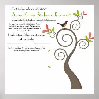 Certificat de mariage de quaker - énorme