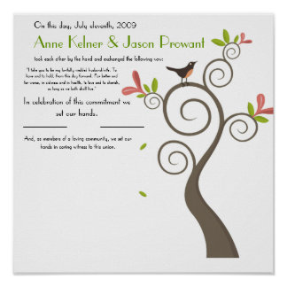 Certificat de mariage de quaker - énorme - customi