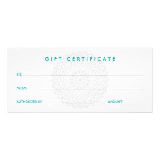 Certificat-prime bleu d'impression divine cartons d'informations  10 cm x 22,9 cm