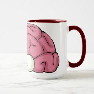 Cerveau avec la tasse de yeux