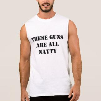 Ces armes à feu sont toutes élégantes t-shirt sans manches